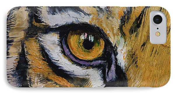 Tiger Eye IPhone Case by Michael Creese