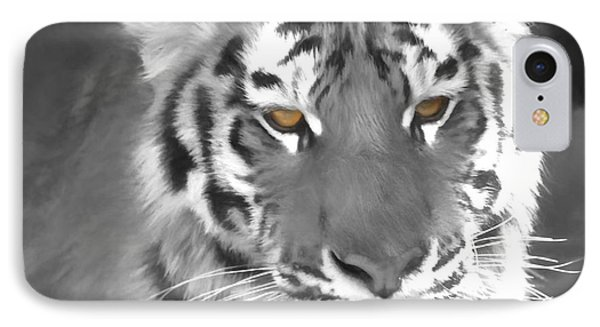 Tiger Eyes IPhone Case by Dan Sproul