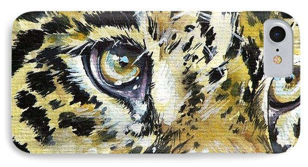 IPhone Case featuring the painting Tiger Eyes by Kovacs Anna Brigitta