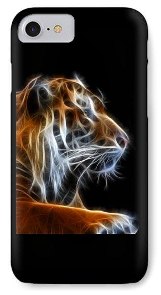 Tiger Fractal 2 IPhone Case by Shane Bechler