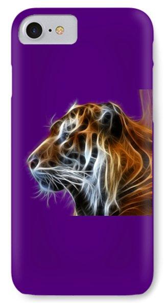 Tiger Fractal IPhone Case by Shane Bechler