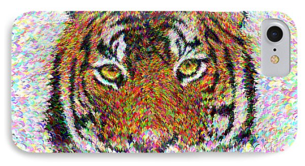 Tiger Head IPhone Case by David Zydd
