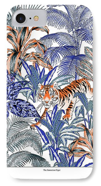 Tiger In It's Habitat IPhone Case by Jacqueline Colley