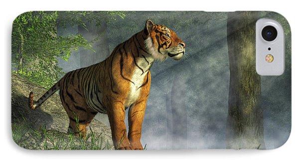 Tiger In The Light IPhone Case by Daniel Eskridge
