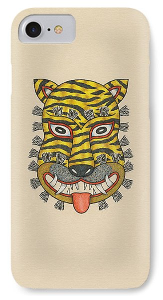 Tiger Mask Of The Folk Tradition IPhone Case by Matt Leines