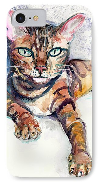 Tiger IPhone Case by Melinda Dare Benfield