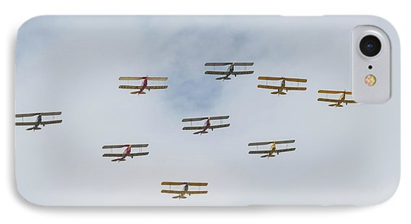 IPhone Case featuring the photograph Tiger Moth Formation by Gary Eason