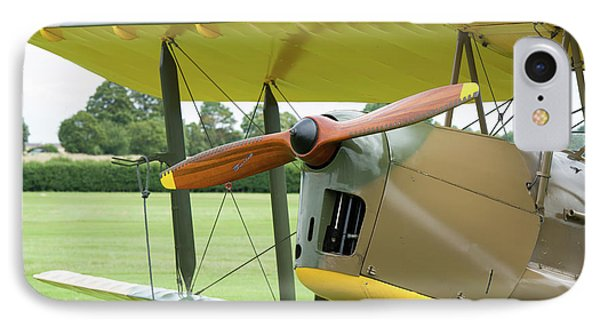 IPhone Case featuring the photograph Tiger Moth Propeller by Gary Eason