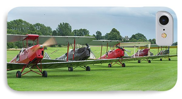 IPhone Case featuring the photograph Tiger Moths Formation Shutdown by Gary Eason