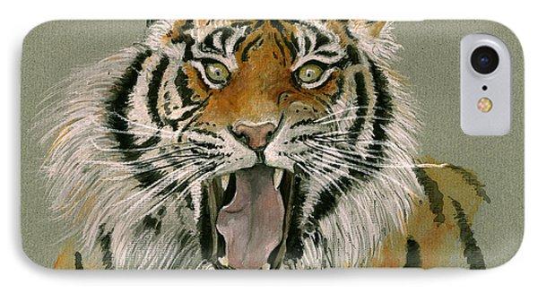 Tiger Portrait IPhone Case by Juan Bosco