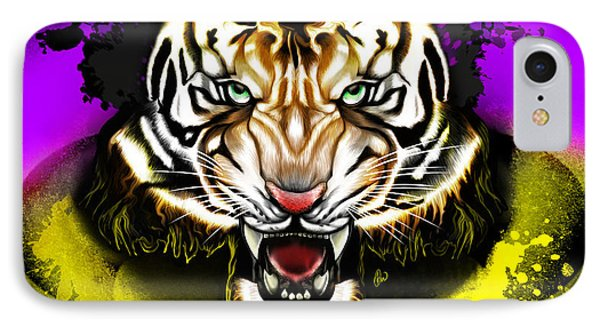 IPhone Case featuring the digital art Tiger Rag by AC Williams