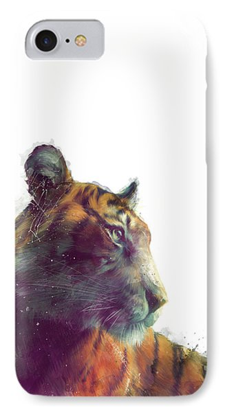 Tiger // Solace - White Background IPhone 7 Case by Amy Hamilton
