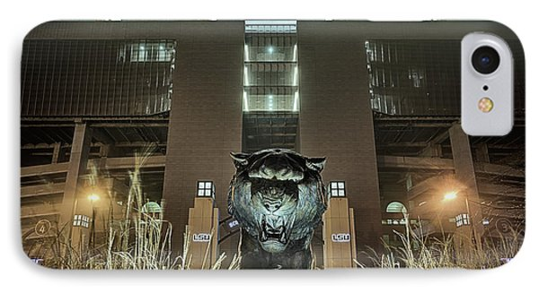 IPhone 7 Case featuring the photograph Tiger Stadium On Saturday Night by JC Findley