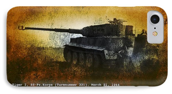 Tiger Tank IPhone Case by John Wills