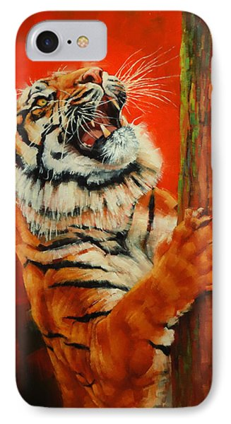 Tiger Tiger Burning Bright IPhone Case by Margaret Stockdale
