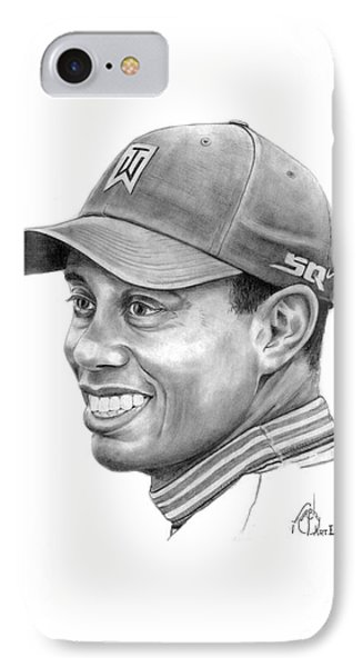 Tiger Woods Smile Phone Case by Murphy Elliott
