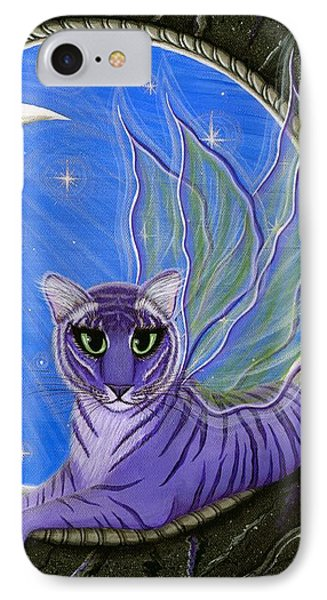 Tigerpixie Purple Tiger Fairy IPhone Case by Carrie Hawks