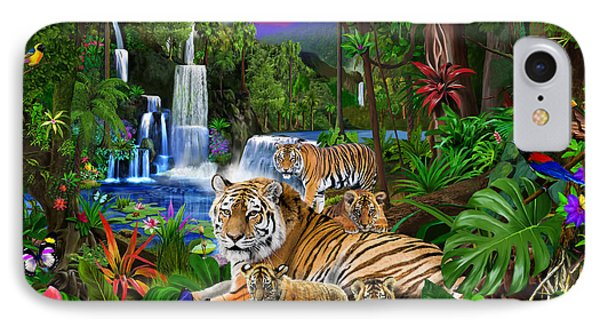 Tigers Of The Forest IPhone Case by Gerald Newton