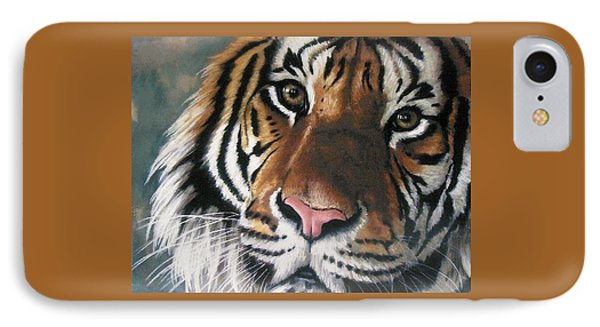 IPhone Case featuring the pastel Tigger by Barbara Keith