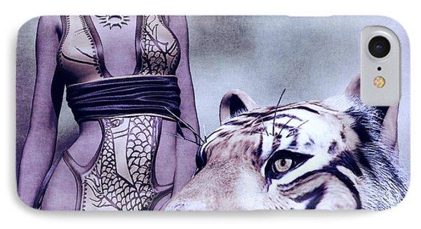 Tigress Phone Case by Maynard Ellis