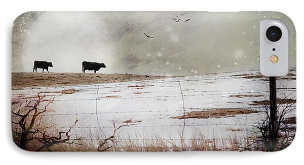 IPhone Case featuring the photograph 'til The Cows Come Home by Theresa Tahara
