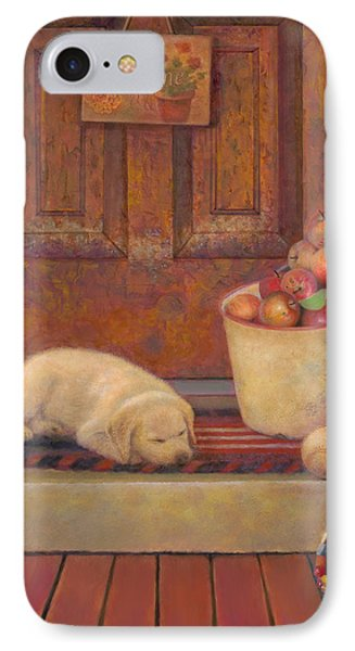 IPhone Case featuring the painting Till The Kids Come Home by Nancy Lee Moran