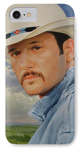 Tim Mcgraw IPhone Case by Cliff Spohn