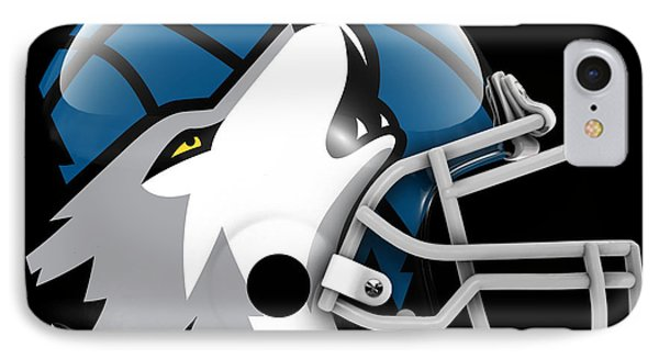 Timberwolves What If Its Football IPhone Case by Joe Hamilton