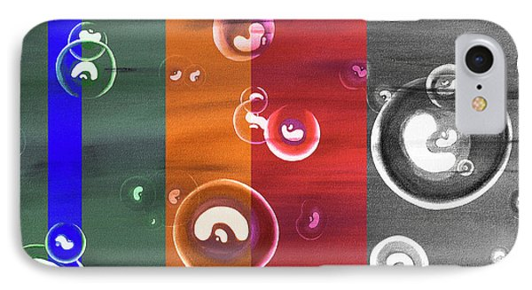 Time Beans - Cellular Replication Abstract IPhone Case by Rayanda Arts