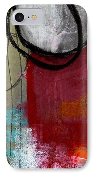 Time Between- Abstract Art IPhone Case by Linda Woods