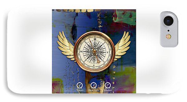 IPhone Case featuring the mixed media Time Flies by Marvin Blaine