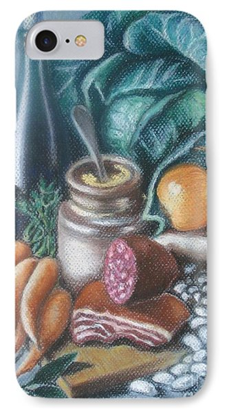 IPhone Case featuring the painting Time For Soup by Inese Poga