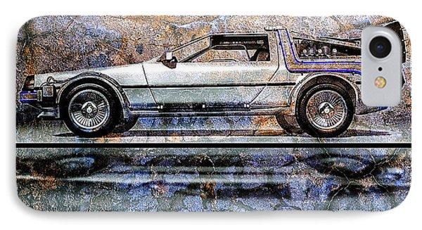 Time Machine Or The Retrofitted Delorean Dmc-12 Phone Case by Bob Orsillo