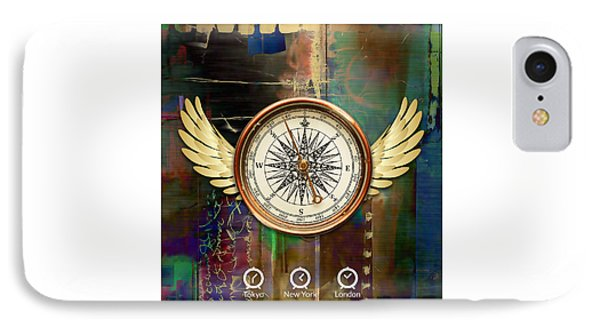 IPhone Case featuring the mixed media Time To Fly by Marvin Blaine