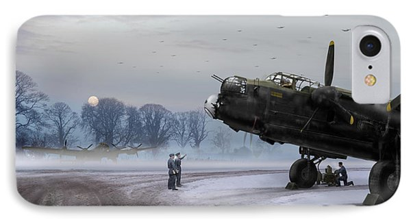 IPhone 7 Case featuring the photograph Time To Go - Lancasters On Dispersal by Gary Eason