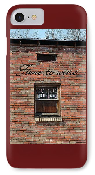 IPhone Case featuring the photograph Time To Wine by Ellen O'Reilly