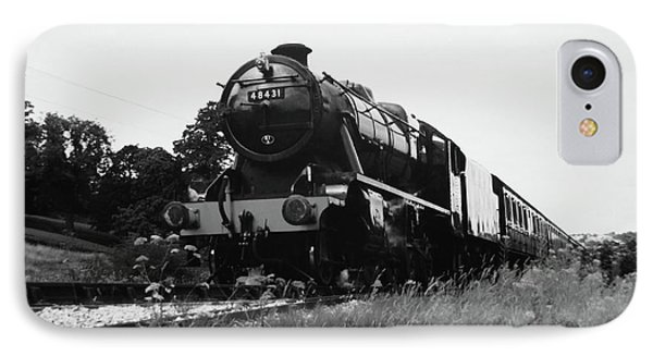 Time Travel By Steam B/w IPhone Case by Martin Howard