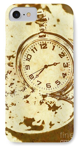 Time Worn Vintage Pocket Watch IPhone Case by Jorgo Photography - Wall Art Gallery