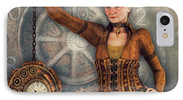 IPhone Case featuring the digital art Timekeeper by Jutta Maria Pusl