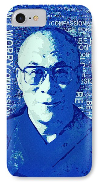 Timeless Wisdom - Retro Pop Art, Blue IPhone Case by Stacey Chiew