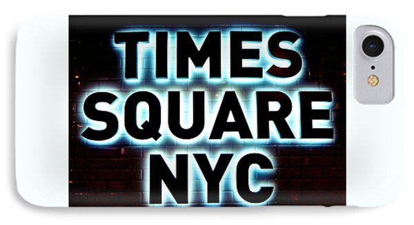 Times Square 4 IPhone Case by NDM Digital Art
