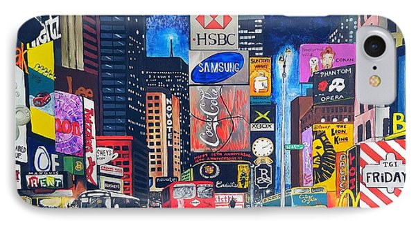 Times Square IPhone 7 Case by Autumn Leaves Art