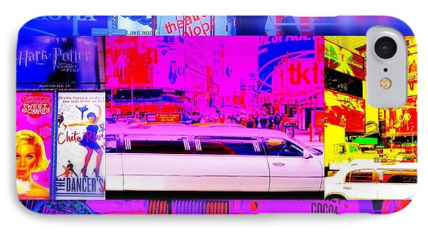 Times Square Frenzy Phone Case by Funkpix Photo Hunter