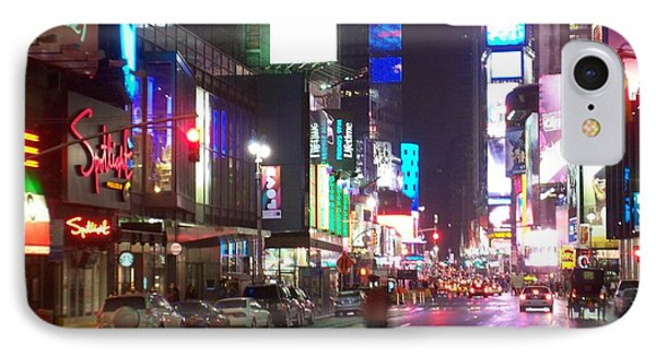 Times Square In The Rain 2 Phone Case by Anita Burgermeister