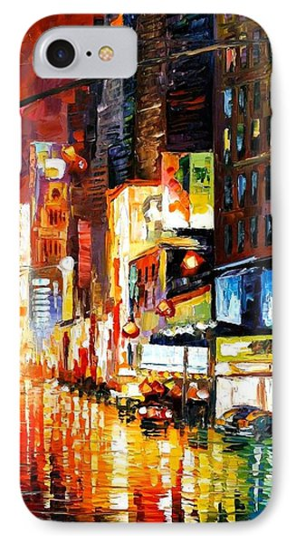 Times Square Phone Case by Leonid Afremov