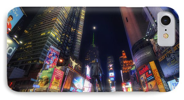 Times Square Moonlight IPhone Case by Yhun Suarez
