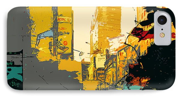 Times Square Ny 53 IPhone Case by Maryam Mughal