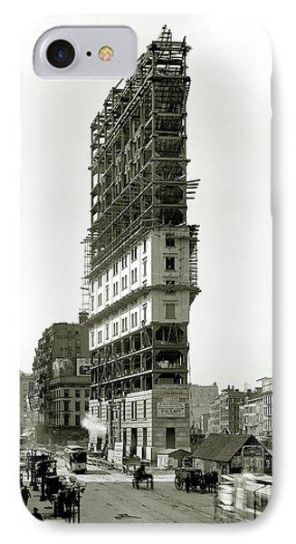 Times Square Under Construction IPhone Case by Jon Neidert