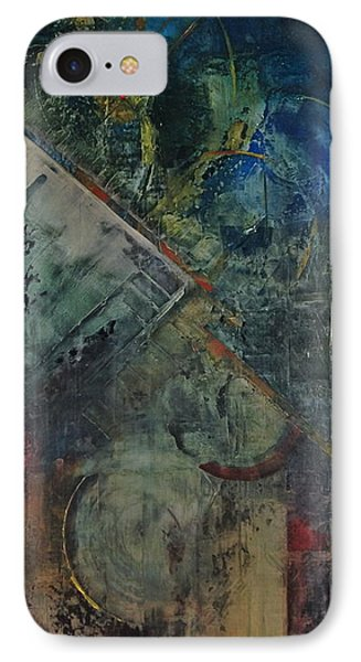 IPhone Case featuring the painting Timethief by Helen Harris