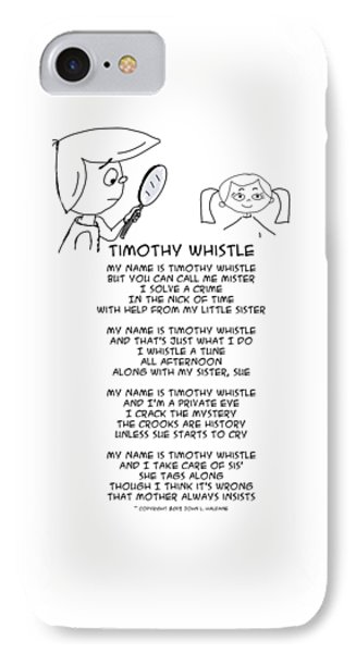 IPhone Case featuring the drawing Timothy Whistle by John Haldane